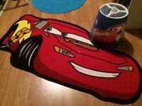 Disney cars rug and lamp shade