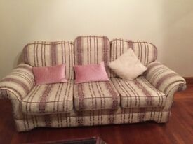 Sofa for sale , 3 piece retro style , excellent condition, sturdy construction