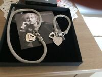 matching necklace and bracelet.Never worn, unwanted gift.Excellent condition