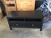 Solid TV CABINET/BENCH - with 2 large storage drawers