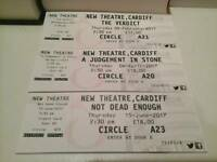 New Theatre Cardiff. Three over 60, 2.30pm tickets for sale. £30