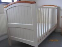 Henley Cot Bed with dropside (little used from Grandma's House)