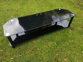 TV table/ TV stand Black Glass