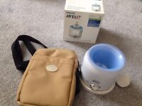 Avent bottle warmer and thermal bag