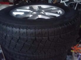 FreeLander 18 inch wheels and tyres new.