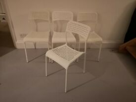 4 x white dining chairs in good condition