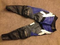 Motorcycle trousers, ladies, leather size 14.
