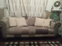 DFS STAG PATCHWORK 3SEATER SOFA