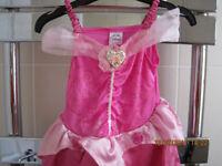 SLEEPING BEAUTY DRESS Age 3-4 - BEAUTIFUL - With headress!
