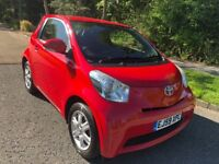 TOYOTA IQ 1.0 VVTI 59 REG IN RED WITH FULL SERVICE HISTORY, MOT MAY 2019 AND £0 PER YEAR ROAD TAX
