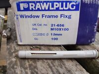 frame fixings 10 mm x 100mm window screws
