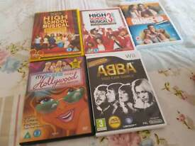 Nintendo wi game and dvds