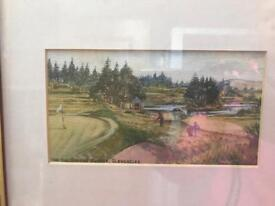 Harry McGregor Golf Courses framed.