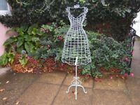 Vintage Style Metal Female Mannequin on Stand, VGC