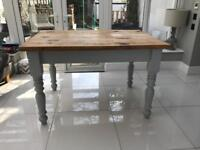 Chunky Wooden Dining Table with turned legs. Seats up to 6. Rrp £325
