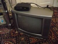 PORTABLE TV AND NEW SET TOP BOX