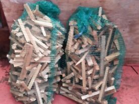 Dry bags of kindling