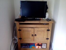 Rustic Wooden TV Unit with plenty of storage