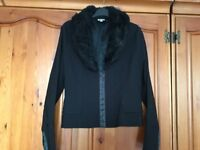 Lovely Black Etam Jacket with Faux Fur Collar will Fit Size 12-14 - Only 50p!