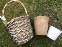 Indoor pots and basket