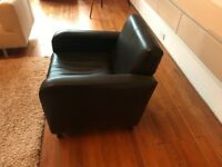 Brown Leather Club Armchair