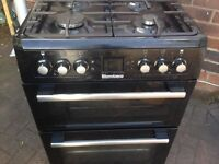 Black gas cooker 60cm...Mint free delivery