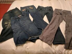 Ladies denim jeans and skirts