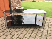 Tv Stand in black glass