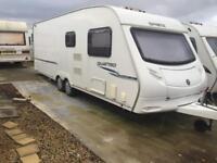 Sprite 6 berth fixed bunks caravan