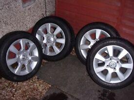 Nissan Tiida Alloy Wheels with Brand New Bridgestone Tyres