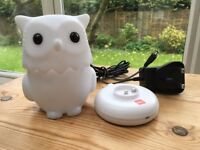 John Lewis Owl Night Light made by ISI baby safe