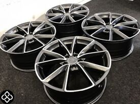 """BRAND NEW 18"""" AUDI RS3/4 STYLE ALLOY WHEELS - ALSO AVAILABLE WITH TYRES - 5 x 112"""