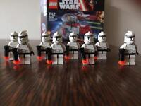 Rare Lego Star Wars first edition clone troopers x 8