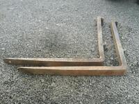 Pair of pallet forks for tractor telehandler forklift etc