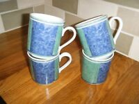 VILLEROY AND BOCH SWITCH 3 COUNTRY COLLECTION MUGS X 4