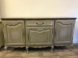 Painted French oak sideboard