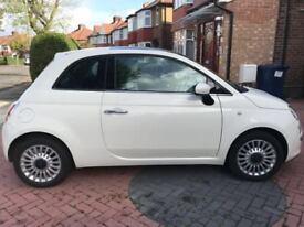 WHITE FIAT 500 1.2 LOUNGE