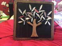 Hand made Olive Tree with silver picture in BS15