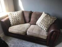 Brown sofa leather