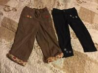 Girls trousers 3-4 years and jeggings 4-5 years
