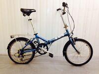 Almost new Bronx folding bike.. 18 speed alloy frame