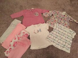 Leggings and Next Baby tops 0-3 months