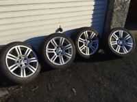 "BMW E90/91 3 Series OEM 17"" M Sport Winter Wheels and Tyres"