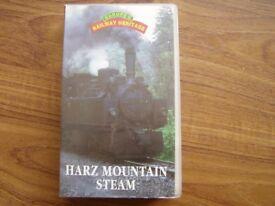 VHS recording : Harz Mountain Steam Trains