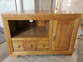 Bevel Oak TV Unit from Oak Furnitureland