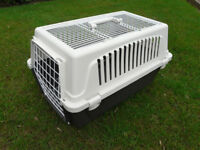Sturdy Pet Carrier in 2 colour plastic suitable for Dogs; Cats; Rabbits etc