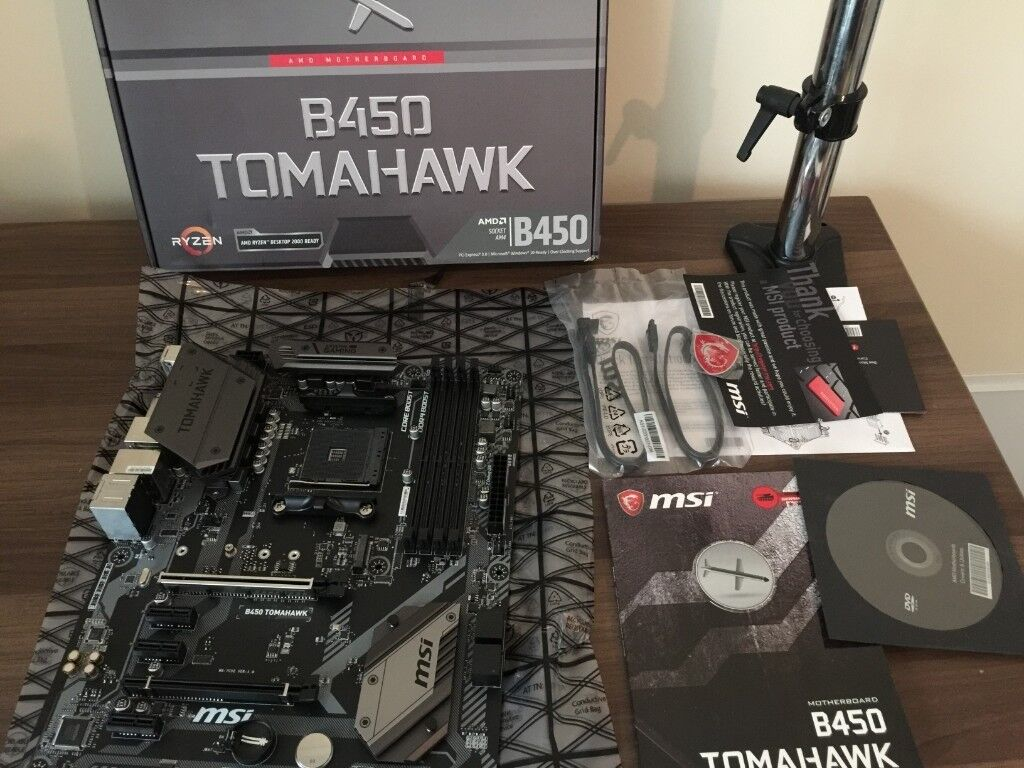 MSI Tomahawk B450 Motherboard ATX AM4 | in Prestatyn, Denbighshire | Gumtree