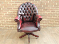 Directors Leather Large Ox Blood Executive Chair (UK Delivery)