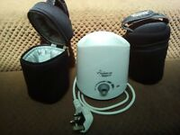 Tommee tippee electric bottle warmer + extras