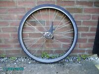 Front wheel with Shimano Hub brake suitable for Dutch bike
